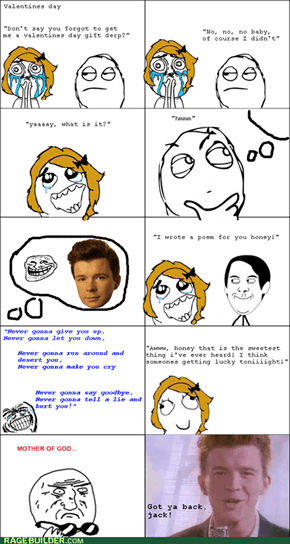 Rick Rolling in the Sheets