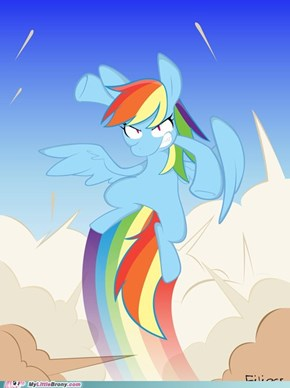 You made Rainbow Dash mad