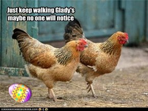 Just keep walking Glady's maybe no one will notice