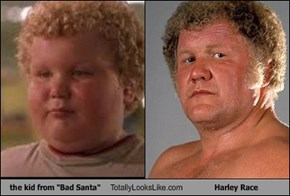 "the kid from ""Bad Santa"" Totally Looks Like Harley Race"