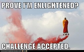 PROVE I'M ENLIGHTENED?  CHALLENGE ACCEPTED.