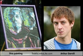 This painting Totally Looks Like Arthur Darvill
