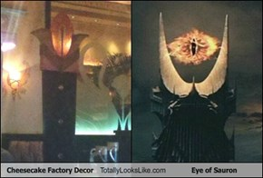 Cheesecake Factory Decor Totally Looks Like Eye of Sauron