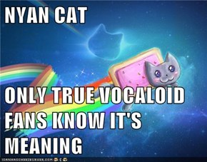NYAN CAT  ONLY TRUE VOCALOID FANS KNOW IT'S MEANING