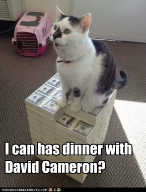 I can has dinner with David Cameron?