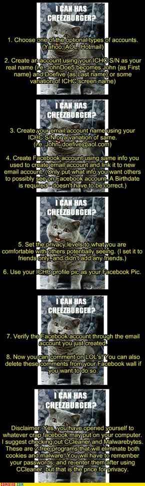reating Anonymous Facebook Account By Using Your ICHC Screen Name