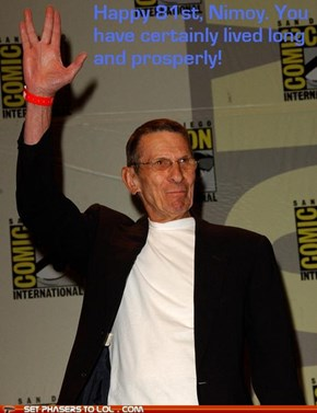 Nimoy's Birthday (26-3-12)
