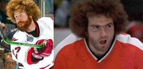 Mike Commadore (Tampa Bay Lightning defenceman) Looks Like Ogie Ogilthorpe (Slap Shot 1977)