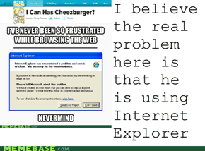 IE is the real problem
