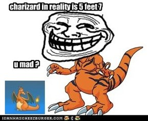 charizard in reality is 5 feet 7