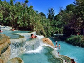 Mineral Baths, Terme di Saturnia, Tuscany, Italy