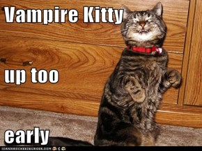 Vampire Kitty up too early