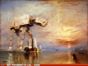 AT-AT Oil Painting