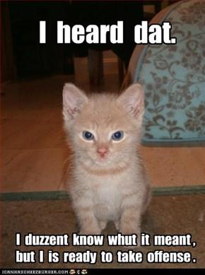 Lolcats: I  heard  dat.
