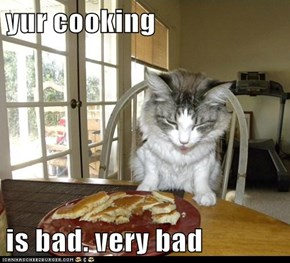 yur cooking  is bad. very bad