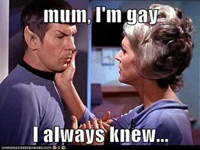 mum, I'm gay  I always knew...