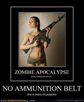 NO AMMUNITION BELT