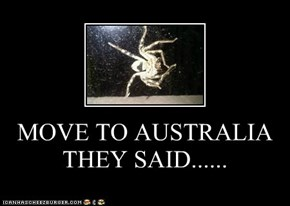 MOVE TO AUSTRALIA THEY SAID......