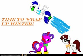 Wraping up winter.