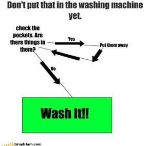 Don't put that in the washing machine yet.