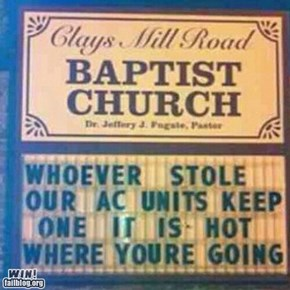 WIN!: Church Sign WIN