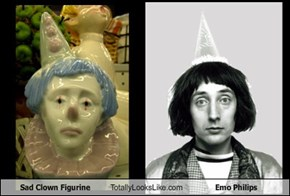 Sad Clown Figurine Totally Looks Like Emo Philips