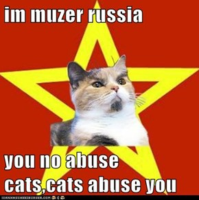 im muzer russia  you no abuse cats,cats abuse you