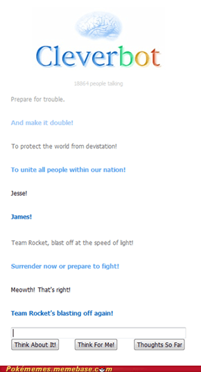 Cleverbot's blasting off again!