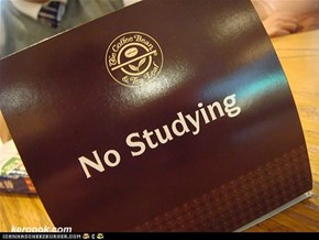 do not study except in the class i love