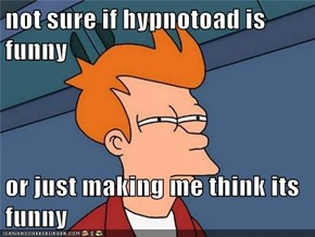 not sure if hypnotoad is funny  or just making me think its funny