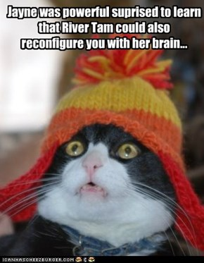 Jayne was powerful suprised to learn that River Tam could also reconfigure you with her brain...