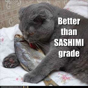 Better than SASHIMI grade