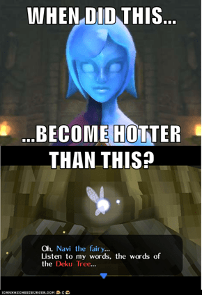 WHEN DID THIS... ...BECOME HOTTER THAN THIS?