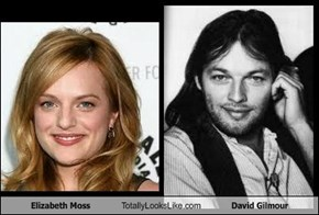 Elizabeth Moss Totally Looks Like David Gilmour
