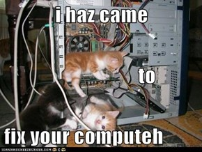 i haz came                                  to fix your computeh