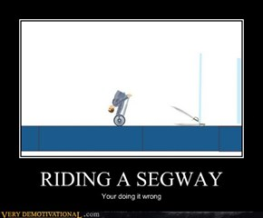 RIDING A SEGWAY