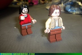 Lego Sad McBeardy and Angry John