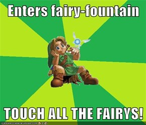 Enters fairy-fountain  TOUCH ALL THE FAIRYS!