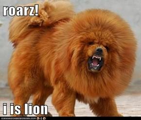 roarz!  i is lion