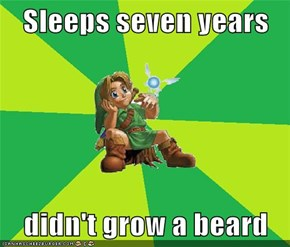 Sleeps seven years  didn't grow a beard