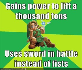 Gains power to lift a thousand tons  Uses sword in battle instead of fists