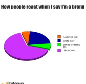 How people react when I say I'm a brony