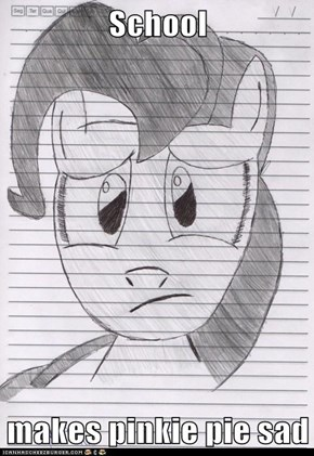 School  makes pinkie pie sad