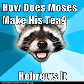 How Does Moses Make His Tea?  Hebrews It