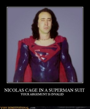 Nic cage the superhero