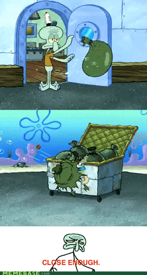 Squidward vs. the Garbage Can
