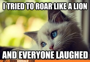 Animal Memes: First World Cat Problems - Just Can't Wait to Be King