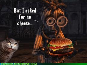 no burger for 6