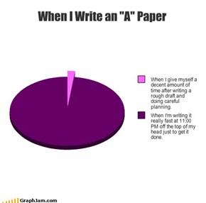 "When I Write an ""A"" Paper"