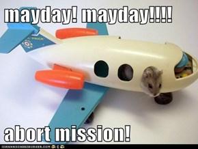 mayday! mayday!!!!  abort mission!